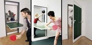 Tür Tischtennisplatte