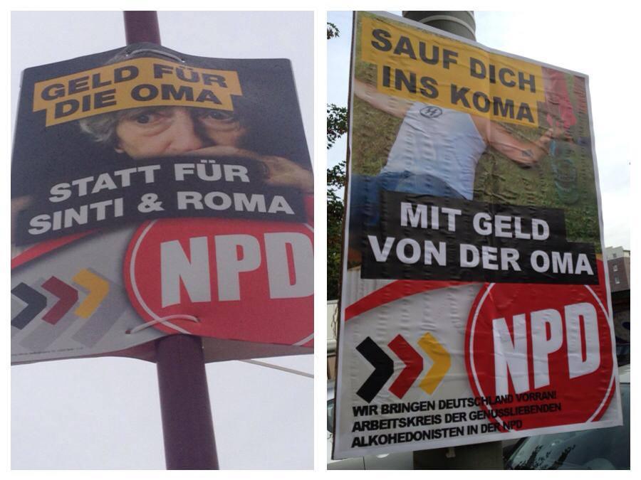npd plakate persiflage